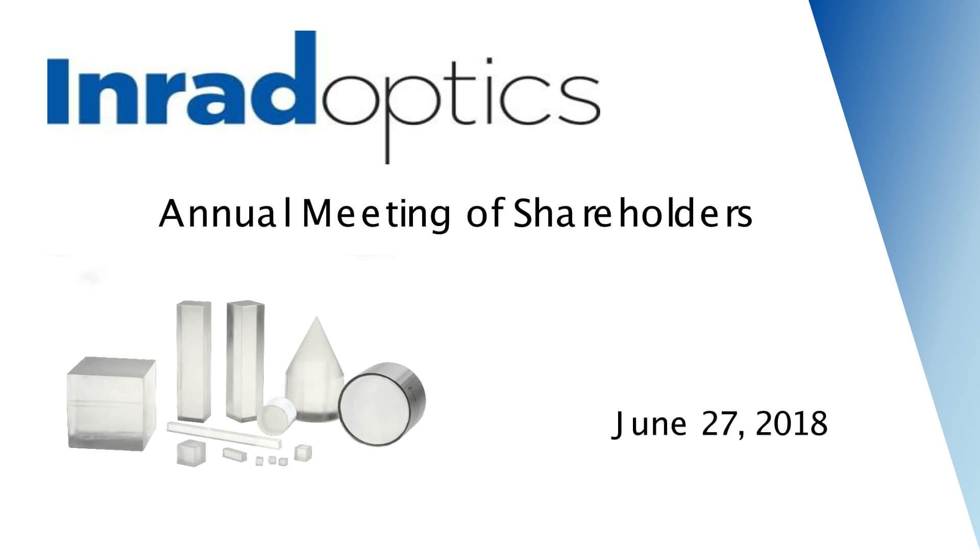 Inrad Optics 2017 Annual Meeting Presentation